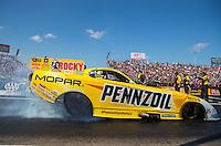 Oct 16, 2016; Ennis, TX, USA; NHRA funny car driver Matt Hagan during the Fall Nationals at Texas Motorplex. Mandatory Credit: Mark J. Rebilas-USA TODAY Sports
