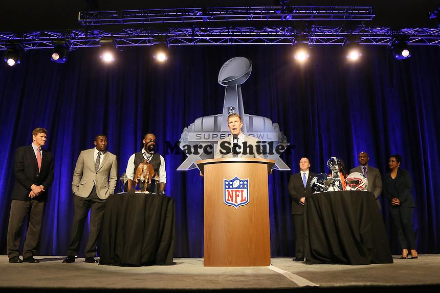 - Walter Payton Man of the Year Award, Super Bowl XLIX, Convention Center Phoenix