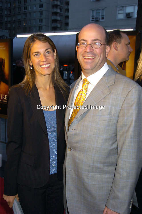"""Jeff Zucker and wife Caryn..at the World Premiere of """"Ring of Fire: The Emile Griffith Story"""" at The Beekman Theatre on April 13, 2005 ...The film was directed by Dan Klores and Ron Berger..and will be shown on USA Network on April 20, 2005. ..Photo by Robin Platzer, Twin Images..."""
