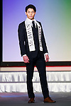 Mister Japan 2016 winner Masaya Yamagishi, competes in the finals of Mister Japan 2016 at Hotel Chinzanso Tokyo on March 1, 2016, Tokyo, Japan. Yamagishi was elected Mister Japan 2016, and will compete in the next edition of Mister International. (Photo by Rodrigo Reyes Marin/AFLO)
