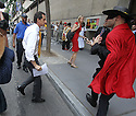 Anthony Weiner is arriving to Pace University on Wednesday, July 24, 2013in New York. (AP Photo/ Donald Traill)