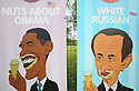 Advert posters showing (L-R) US President Barack Obama, Russian President Vladimir Putin, Japanese Prime Minister Shinzo Abe and French President Francois Hollande are seen at a petrol station close to the G8 Summit in Lough Erne, Northern Ireland, Britain, 18 June 2013. Leaders from Canada, France, Germany, Italy, Japan, Russia, USA and UK are meeting at Lough Erne in Northern Ireland for the G8 Summit 17-18 June. The leaders were holding their second and final day of talks on 18 June, with the global economy and tax avoidance high on the agenda.  Photo/Paul McErlane