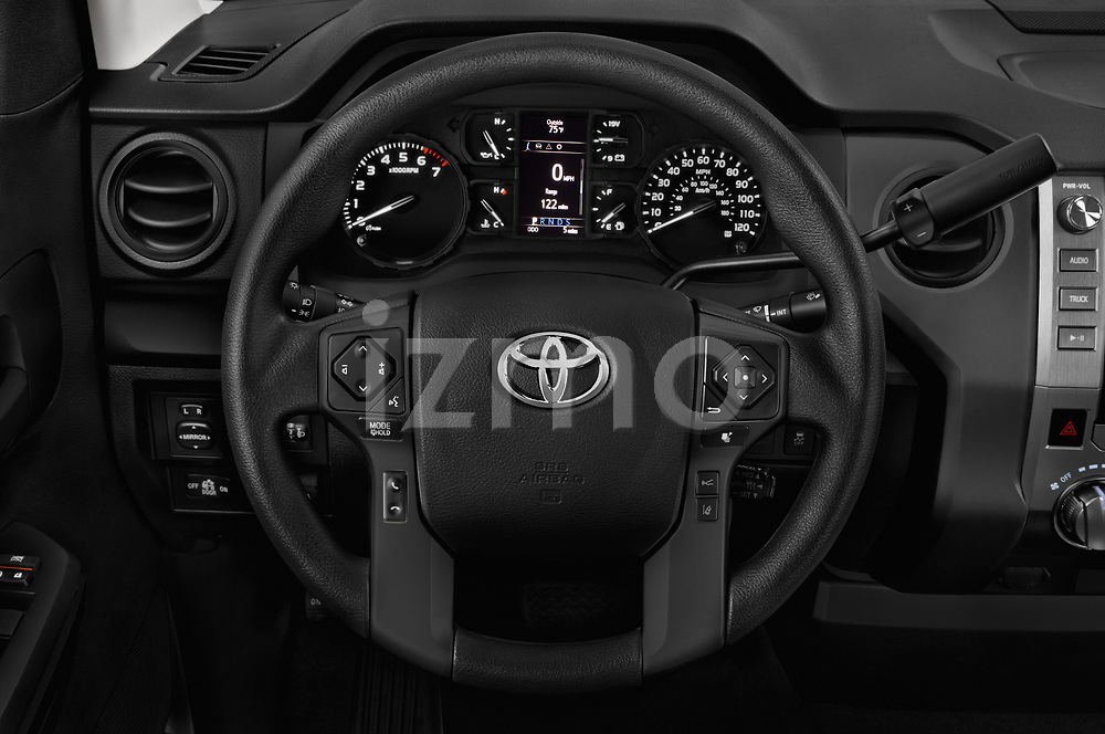 Car pictures of steering wheel view of a 2018 Toyota Tundra SR 4.6L Double Cab Standard Bed 4 Door Pick Up