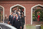 December 11, 2010. Raleigh, NC.. John Edwards, second from left, his daughter Emma Claire, far left, and his oldest daughter Cate, far right, leave the funeral of Edwards' wife, Elizabeth.. A funeral was held at the Edenton Street United Methodist Church to honor the life of Elizabeth Edwards, the estranged wife of former Democratic presidential candidate John Edwards, who died after an 6 year battle with breast cancer..