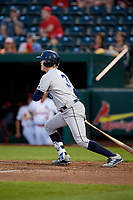 Corpus Christi Hooks designated hitter Trent Woodward (3) follows through on a swing during a game against the Springfield Cardinals on May 31, 2017 at Hammons Field in Springfield, Missouri.  Springfield defeated Corpus Christi 5-4.  (Mike Janes/Four Seam Images)