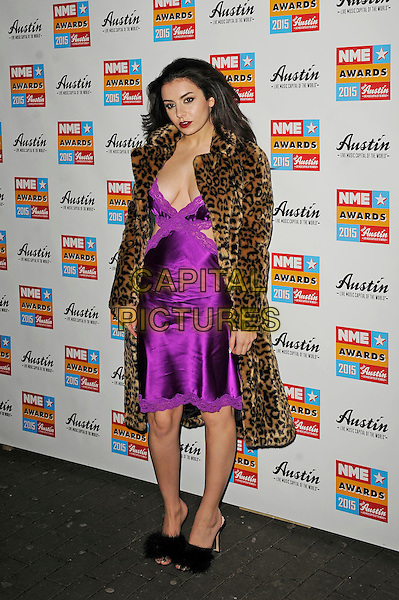 LONDON, ENGLAND - FEBRUARY 18: Charli XCX attending the NME Awards at Brixton Academy on February 18 2015 in London, England.<br /> CAP/MAR<br /> &copy; Martin Harris/Capital Pictures