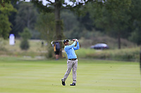 S.S.P. Chawrasia (IND) on the 18th during the 1st round at the Porsche European Open, Green Eagles Golf Club, Luhdorf, Winsen, Germany. 05/09/2019.<br /> Picture Fran Caffrey / Golffile.ie<br /> <br /> All photo usage must carry mandatory copyright credit (© Golffile | Fran Caffrey)