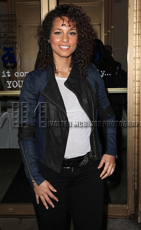 Alicia Keys & 'Stick Fly' cast sign posters & greet ticket buyers at the Cort Theatre in New York City on 11/16/2011