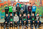 Medal Presentation : The Ballyduff U/14 hurlers & footballers who were presented with their medals by Clare Hurler Tony Kelly at Ballyduff Central School on Saturday nigh last.