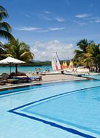 MUS, Mauritius, Grand Port, bei Mahébourg, Shandrani Hotel - Pool | MUS, Mauritius, Grand Port, near Mahébourg, Shandrani Hotel - Pool