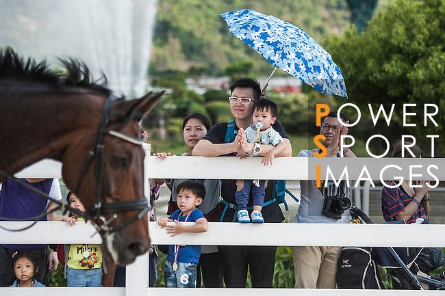 People attend the HKJC Community Festival 2015 at Sha Tin Racecourse on April 04 2015 in Hong Kong, China. Photo by Xaume Olleros / Power Sport Images