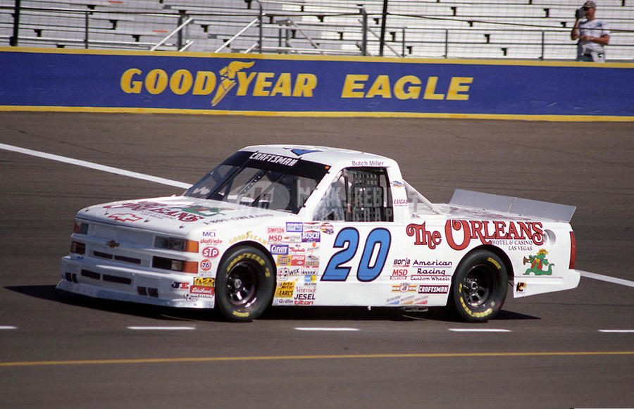 Nov. 1, 1997; Avondale, AZ, USA; NASCAR Craftsman Truck Series driver Butch Miller during the GM Goodwrench/Delco 300 at Phoenix International Raceway. Mandatory Credit: Mark J. Rebilas-