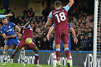 Michail Antonio shot is saved by Kepa Arrizabalaga Of Chelsea FC during Chelsea vs West Ham United, Premier League Football at Stamford Bridge on 30th November 2019