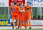 St Johnstone v Dundee United..11.02.12.. SPL.Paul Dixon celebrates as his free kick is missed by Peter Enckelman.Picture by Graeme Hart..Copyright Perthshire Picture Agency.Tel: 01738 623350  Mobile: 07990 594431