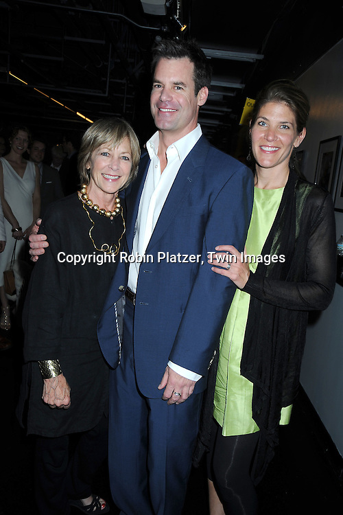 """Tuc Watkins, his mother Mary and sister Courtney Watkins at The opening night of """"White's Lies"""" on May 6, 2010 at New World Stages in New York City. The show stars Betty Buckley, Tuc Watkins, Peter Scolari and Christy Carlson Romano."""