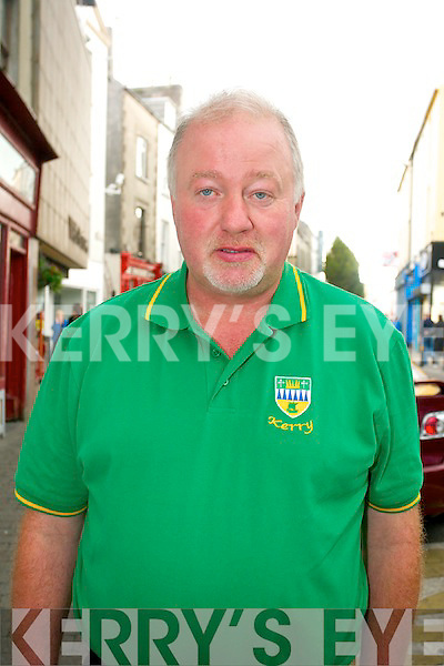Richard O'Connor, Knockanure..'We hope Kerry will win. They'll win alright by five points I predict 1 15 to 1 10.'