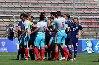 Tempers flare in the first half during Turkey Under-21 vs Scotland Under-21, Tournoi Maurice Revello Football at Stade Francis Turcan on 9th June 2018