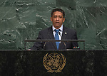 72 General Debate – 20 September <br /> <br /> His Excellency Danny Faure, President of the Republic of Seychelles