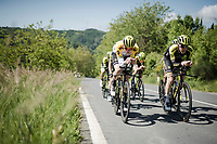 race preparations: Team mitchelton-Scott checking the TT prologue course ahead of the 102nd Giro d'Italia 2019<br /> <br /> ©kramon