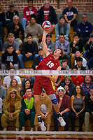STANFORD, CA - March 10, 2018: Jacob Thoenen at Burnham Pavilion. UC Irvine defeated the Stanford Cardinal, 3-0.