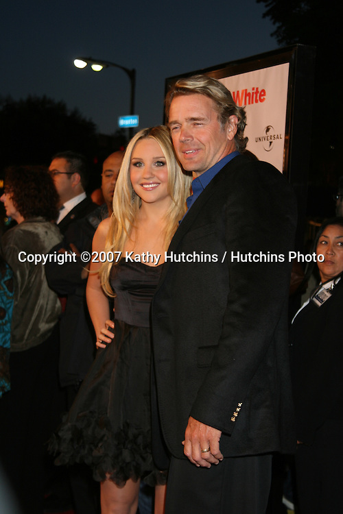 "Amanda Bynes & John Schneider.""Sydney White"" World Premiere.Mann's Bruin Theater.Westwood,  CA.September 20, 2007.©2007 Kathy Hutchins / Hutchins Photo...               ."