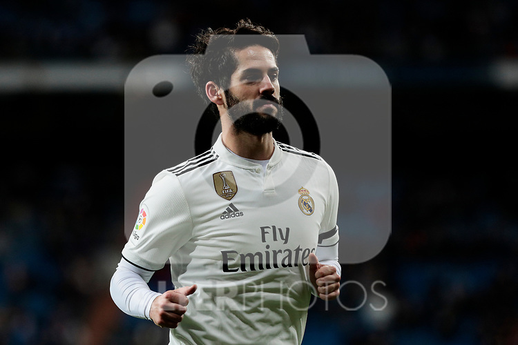 Real Madrid's Francisco Alarcon 'Isco' during Copa Del Rey match between Real Madrid and CD Leganes at Santiago Bernabeu Stadium in Madrid, Spain. January 09, 2019. (ALTERPHOTOS/A. Perez Meca)