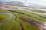 ALASKA, Homer, aerial landscape of Katmai National Park, Katmai Peninsula, Hallow Bay, Gulf of Alaska