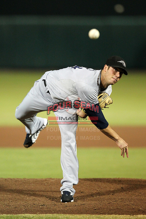Peoria Javelinas pitcher Anthony Bass #54 during an Arizona Fall League game against the Scottsdale Scorpions at Scottsdale Stadium on November 1, 2011 in Scottsdale, Arizona.  Scottsdale defeated Peoria 6-4.  (Mike Janes/Four Seam Images)