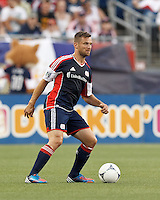 New England Revolution defender Flo Lechner (2) looks to pass. In a Major League Soccer (MLS) match, the New England Revolution tied the Seattle Sounders FC, 2-2, at Gillette Stadium on June 30, 2012.