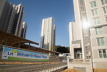 Gangneung Olympic Village, Oct 30, 2017 : Gangneung Olympic Village, the athletes' village of the 2018 PyeongChang Winter Olympics is seen in Gangneung, east of Seoul, South Korea. The 23rd Winter Olympics will be held for 17 days from February 9 - 25, 2018. The opening and closing ceremonies and most snow sports will take place in PyeongChang county. Jeongseon county will host Alpine speed events and ice sports will be held in the coast city of Gangneung. (Photo by Lee Jae-Won/AFLO) (SOUTH KOREA)