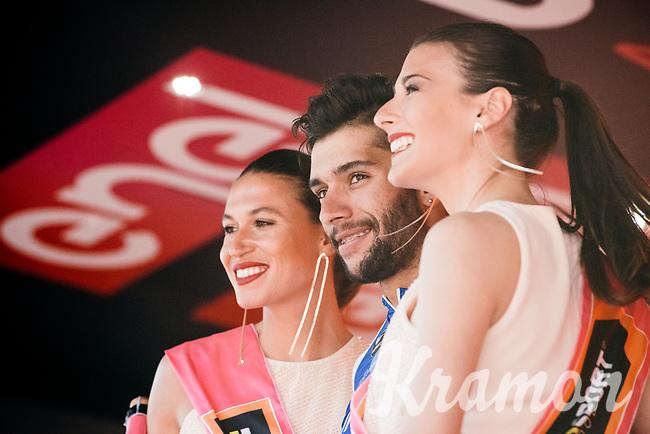 Fernando Gaviria (COL/Quick-Step Floors) &amp; the podium misses<br /> <br /> 100th Giro d'Italia 2017<br /> Stage 13: Reggio Emilia &rsaquo; Tortona (167km)
