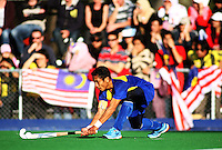 Malaysian captain Mohd Madzli Ikmar Mohd Nor during the international hockey match between the New Zealand Black Sticks and Malaysia at Fitzherbert Park, Palmerston North, New Zealand on Sunday, 9 August 2009. Photo: Dave Lintott / lintottphoto.co.nz
