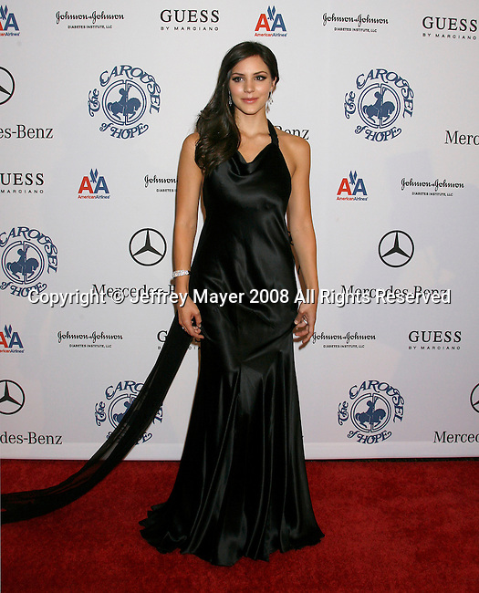 BEVERLY HILLS, CA. - October 25: Actress/singer Katharine McPhee arrives at The 30th Anniversary Carousel Of Hope Ball at The Beverly Hilton Hotel on October 25, 2008 in Beverly Hills, California.