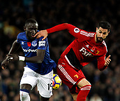 5th November 2017, Goodison Park, Liverpool, England; EPL Premier League Football, Everton versus Watford; Oumar Niasse of Everton and Miguel Angel Britos of Watford tussle for the ball