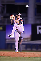 ***Temporary Unedited Reference File***Arkansas Travelers relief pitcher Austin Wood (38) during a game against the Tulsa Drillers on April 25, 2016 at ONEOK Field in Tulsa, Oklahoma.  Tulsa defeated Arkansas 4-3.  (Mike Janes/Four Seam Images)