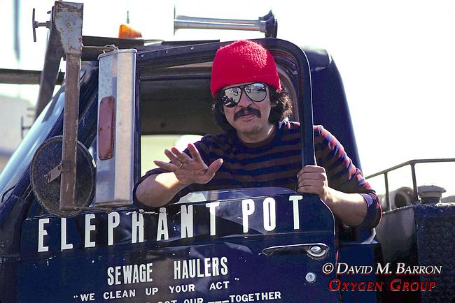 Chico Ramirez & Elephant Pot Sewage Truck