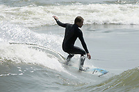 Montreal (Qc) Canada - file photo 2007 - surfing on the saint lawrence river
