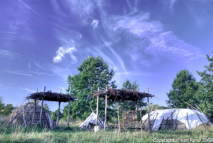 Early morning early fall images of the Sauder Village Native American setting in Archbold, OH