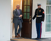 Incoming United States House Minority Leader Kevin McCarthy (Republican of California) walks out of the West Wing to meet reporters at the White House after meeting with US President Donald J. Trump on border security and reopening the federal government at the White House in Washington, DC on Wednesday, January 2, 2018.<br /> Credit: Ron Sachs / CNP/AdMedia