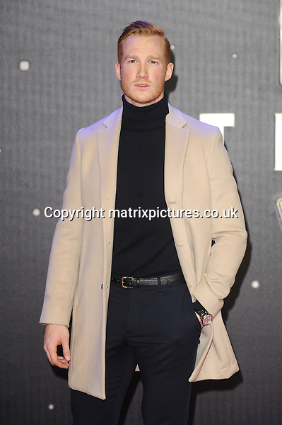 NON EXCLUSIVE PICTURE: PAUL TREADWAY / MATRIXPICTURES.CO.UK<br /> PLEASE CREDIT ALL USES<br /> <br /> WORLD RIGHTS<br /> <br /> British athlete Greg Rutherford attending the European Premiere of Star Wars: The Force Awakens in Leicester Square, London.<br /> <br /> DECEMBER 16th 2015<br /> <br /> REF: PTY 153700