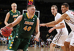 SIOUX FALLS, SD - MARCH 6:  Dexter Werner #40 of North Dakota State drives into IUPUI defenders during the quarterfinals of the 2016 Summit League Tournament. (Photo by Dick Carlson/Inertia)