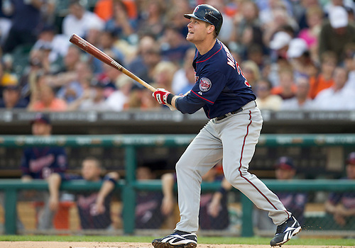 August 17, 2011:  Minnesota Twins first baseman Justin Morneau (#33) at bat during MLB game action between the Minnesota Twins and the Detroit Tigers at Comerica Park in Detroit, Michigan.  The Twins defeated the Tigers 6-5.