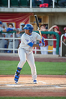 Willie Calhoun (17) of the Ogden Raptors at bat against the Orem Owlz in Pioneer League action at Home of the Owlz on June 20, 2015 in Provo, Utah. The Raptors defeated the Owlz 9-6. (Stephen Smith/Four Seam Images)
