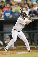 Mississippi State Bulldogs pinch hitter Jacob Robson (7) at bat during Game 1 of the 2013 Men's College World Series Finals against the UCLA Bruins on June 24, 2013 at TD Ameritrade Park in Omaha, Nebraska. The Bruins defeated the Bulldogs 3-1, taking a 1-0 lead in the best of 3 series. (Andrew Woolley/Four Seam Images)