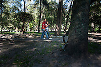 Squirrils and lovers in Chapultepec Park, Mexico City