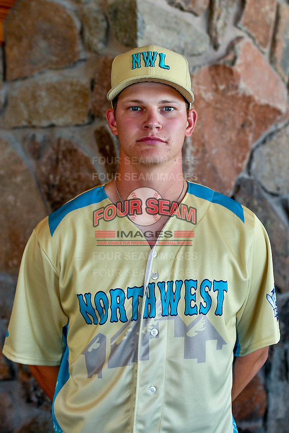 Brandon Miller (29) of the Everett AquaSox and the Northwest League All-Stars poses for a photo during activities before the 2nd Annual Northwest League-Pioneer League All-Star Game at Snowbasin Resort on August 1, 2016 in Ogden, Utah. (Stephen Smith/Four Seam Images)