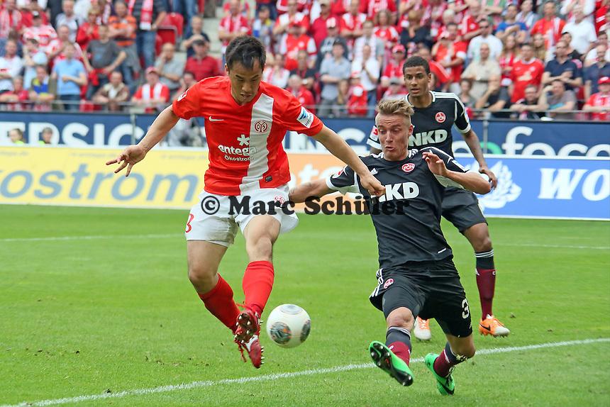 Hackentrick Shinji Okazaki (Mainz) gegen Ondrej Petrak (Nürnberg)- 1. FSV Mainz 05 vs. 1. FC Nürnberg, Coface Arena,