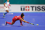 Akiko Kato (JPN), <br /> AUGUST 31, 2018 - Hockey : <br /> Women's Final match <br /> between Japan 2-1 India  <br /> at Gelora Bung Karno Hockey Field <br /> during the 2018 Jakarta Palembang Asian Games <br /> in Jakarta, Indonesia. <br /> (Photo by Naoki Morita/AFLO SPORT)