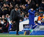 Antonio Conte manager of Chelsea reacts on the touchline during the Champions League Group C match at the Stamford Bridge, London. Picture date: December 5th 2017. Picture credit should read: David Klein/Sportimage