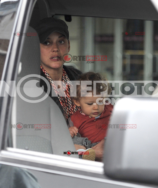 May 04, 2012: Marion Cotillard with son Marcel Canet on the set of Blood Ties in New York City. Credit:mpi15/MediaPunch Inc.